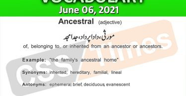Daily DAWN News Vocabulary with Urdu Meaning (06 June 2021)