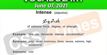 Daily DAWN News Vocabulary with Urdu Meaning (07 June 2021)