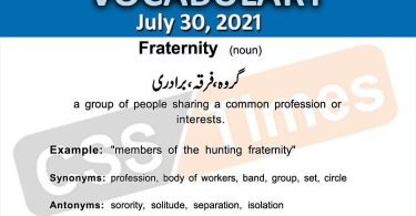 Daily DAWN News Vocabulary with Urdu Meaning (30 July 2021)