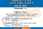 Daily DAWN News Vocabulary with Urdu Meaning (27 July 2021)