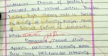 Democracy and Illiteracy Cannot go Together
