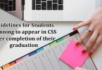 Planning for CSS? | Things to Focus during Graduation