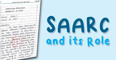 SAARC Handwritten Notes (Download in PDF)
