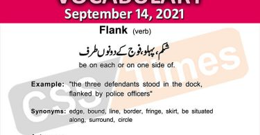 Daily DAWN News Vocabulary with Urdu Meaning (14 September 2021)