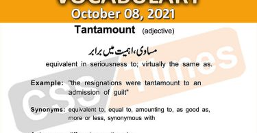 Daily DAWN News Vocabulary with Urdu Meaning (08 October 2021)