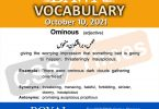 Daily DAWN News Vocabulary with Urdu Meaning (10 October 2021)