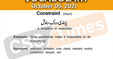Daily DAWN News Vocabulary with Urdu Meaning (05 October 2021)