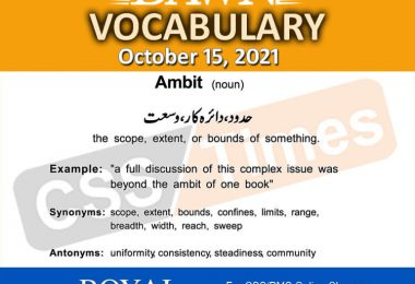 Daily DAWN News Vocabulary with Urdu Meaning (15 October 2021)